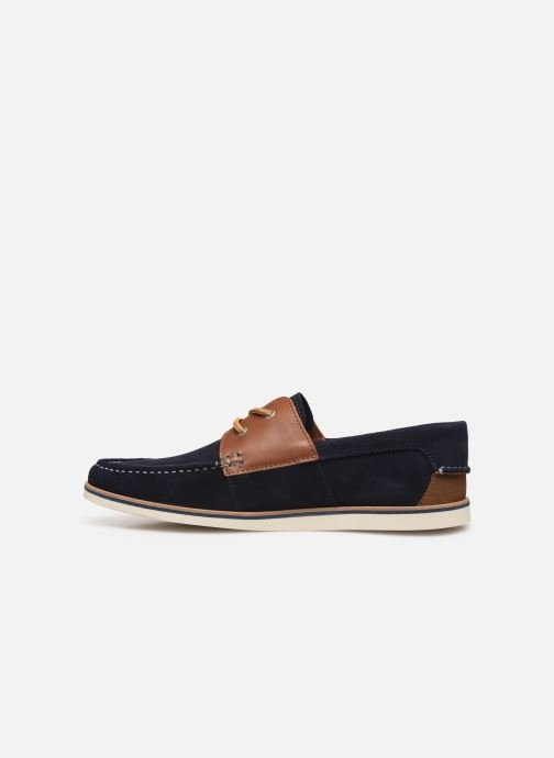 Schnürschuhe Faguo Boat Shoes Larch B Suede blau ansicht von vorne