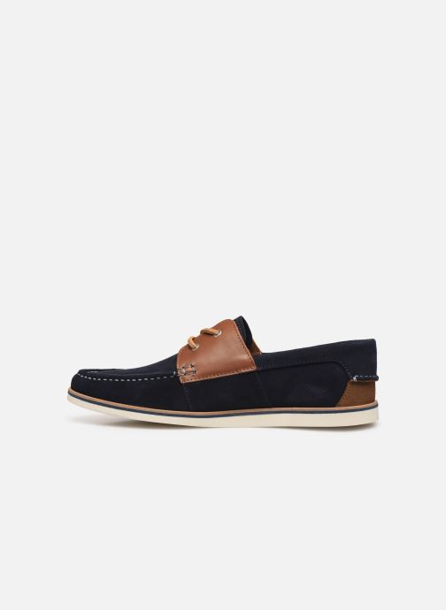 Lace-up shoes Faguo Boat Shoes Larch B Suede Blue front view