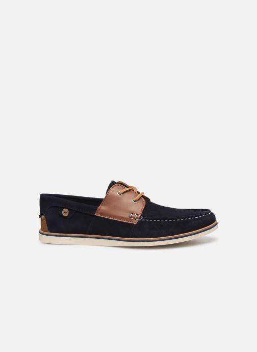 Schnürschuhe Faguo Boat Shoes Larch B Suede blau ansicht von hinten