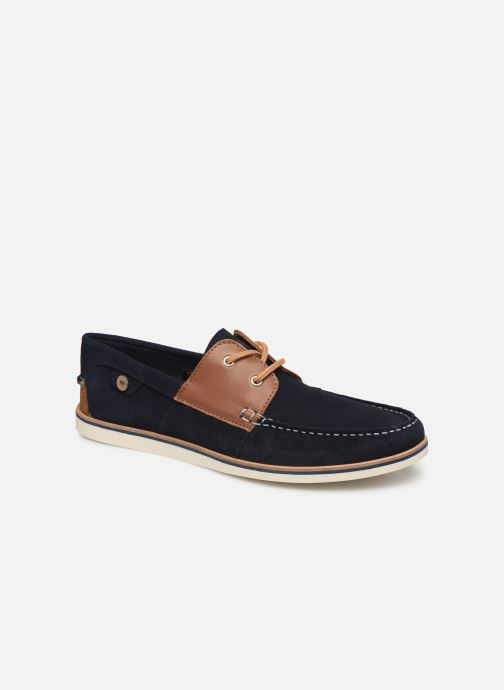 Lace-up shoes Faguo Boat Shoes Larch B Suede Blue detailed view/ Pair view