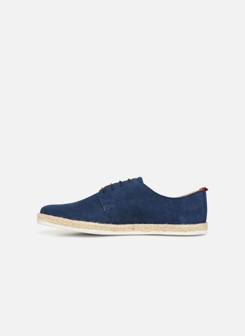 Lace-up shoes Faguo Derbies Plane Suede Blue front view
