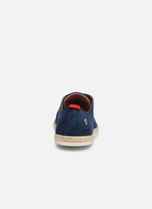 Zapatos con cordones Faguo Derbies Plane Suede Azul vista lateral derecha
