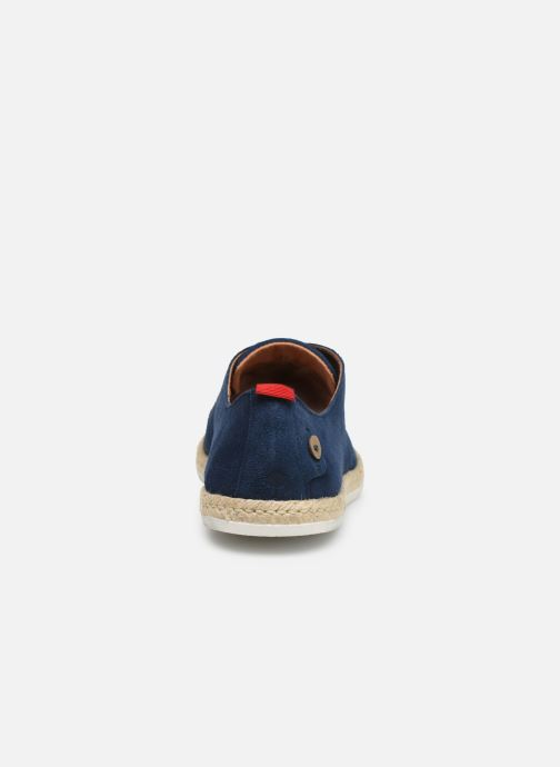 Lace-up shoes Faguo Derbies Plane Suede Blue view from the right