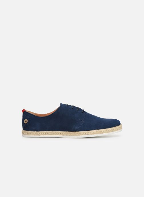 Lace-up shoes Faguo Derbies Plane Suede Blue back view