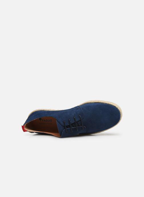 Lace-up shoes Faguo Derbies Plane Suede Blue view from the left