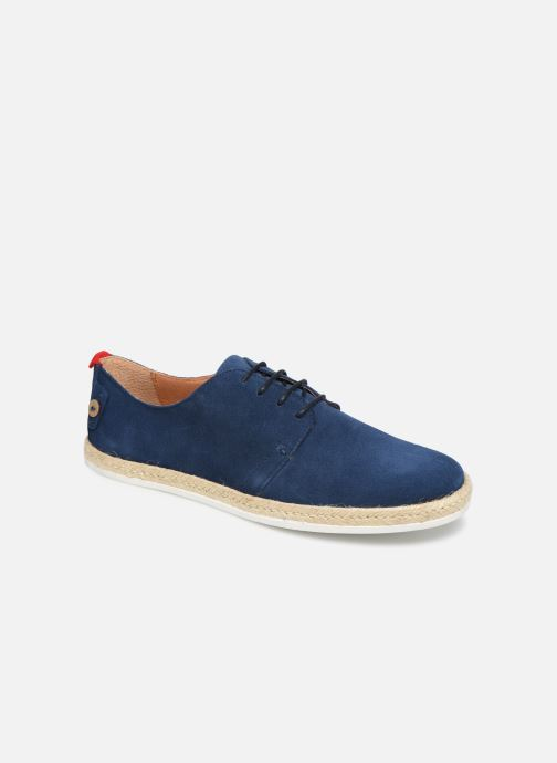 Lace-up shoes Faguo Derbies Plane Suede Blue detailed view/ Pair view