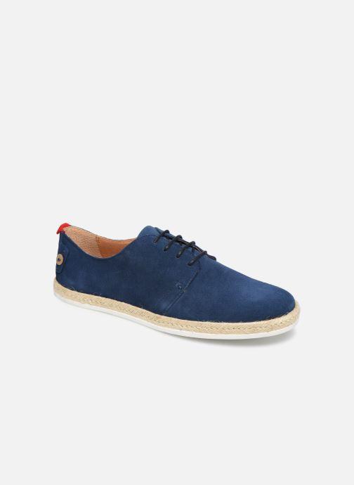 Zapatos con cordones Faguo Derbies Plane Suede Azul vista de detalle / par