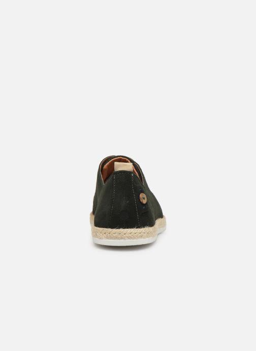 Chaussures à lacets Faguo Derbies Plane Suede Vert vue droite