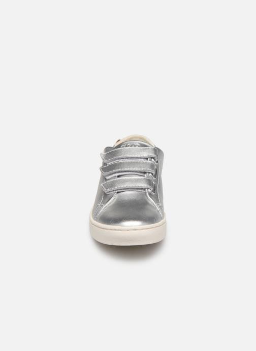 Baskets Faguo DOUBLON XIII Argent vue portées chaussures