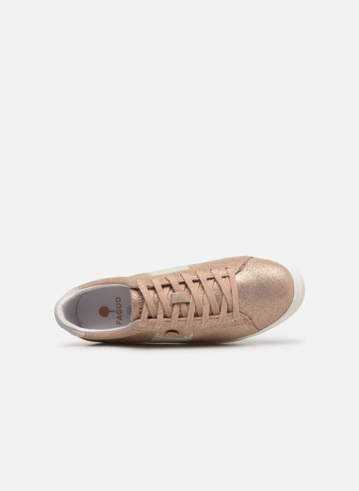 Sneaker Faguo Tennis Hosta Leather Suede W gold/bronze ansicht von links