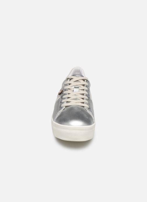 Baskets Faguo Tennis Hosta Suede Leather W Argent vue portées chaussures