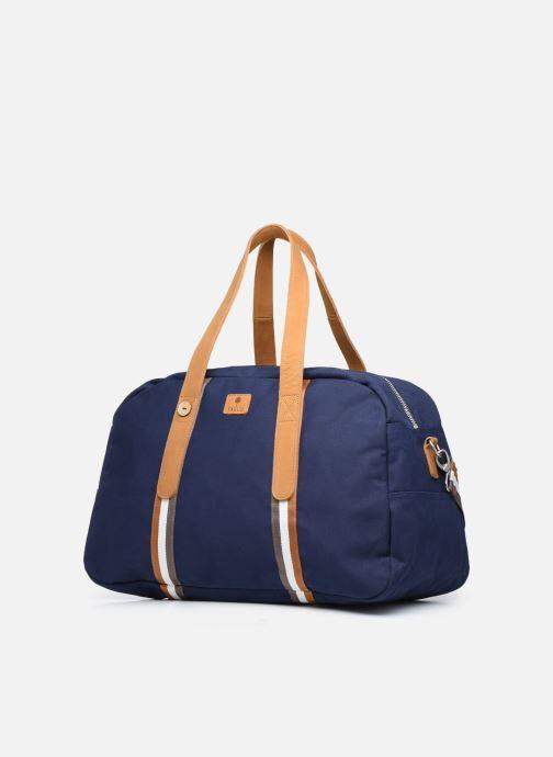 Bagages Faguo Bag48 Cotton Bleu vue portées chaussures