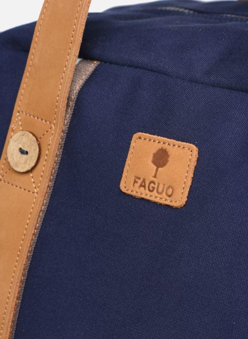 Bagages Faguo Bag48 Cotton Bleu vue gauche