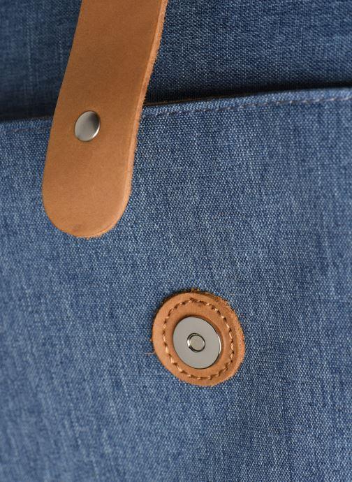 Marroquinería pequeña Faguo Messenger Syn Wov Azul vista lateral izquierda