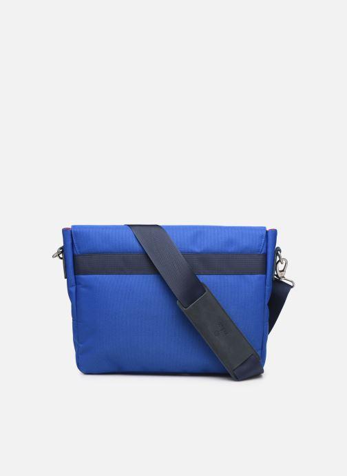 Kleine lederwaren Faguo Messenger Syn Wov Blauw voorkant