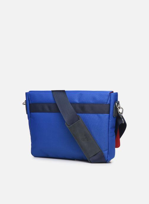 Petite Maroquinerie Faguo Messenger Syn Wov Bleu vue droite