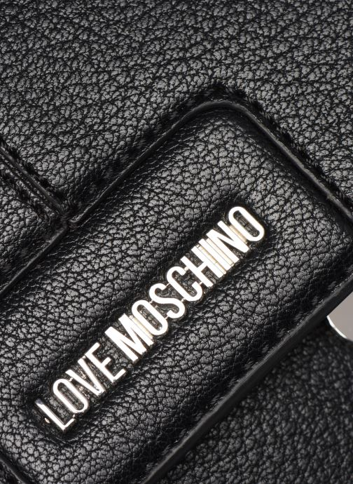 Sacs à dos Love Moschino BELTS ON BAGS BACKPACK Noir vue gauche