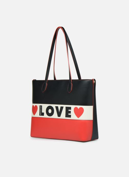 Sacs à main Love Moschino SHARE THE LOVE TOTE Rouge vue portées chaussures