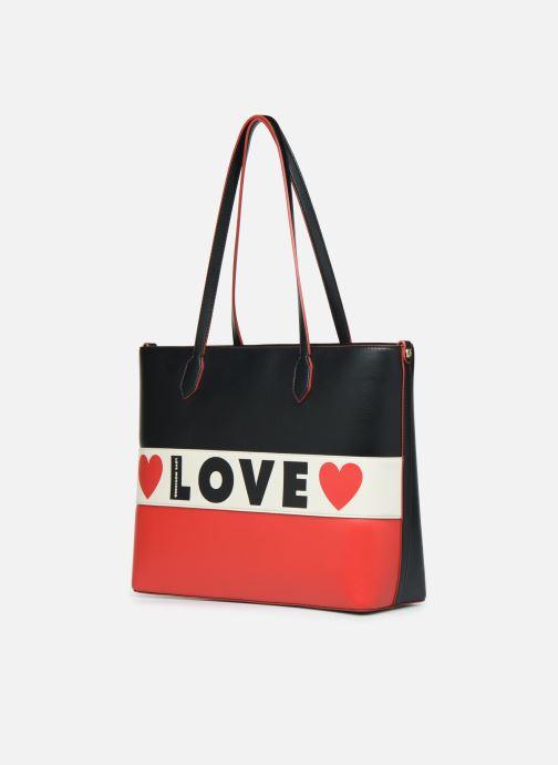 Bolsos de mano Love Moschino SHARE THE LOVE TOTE Rojo vista del modelo