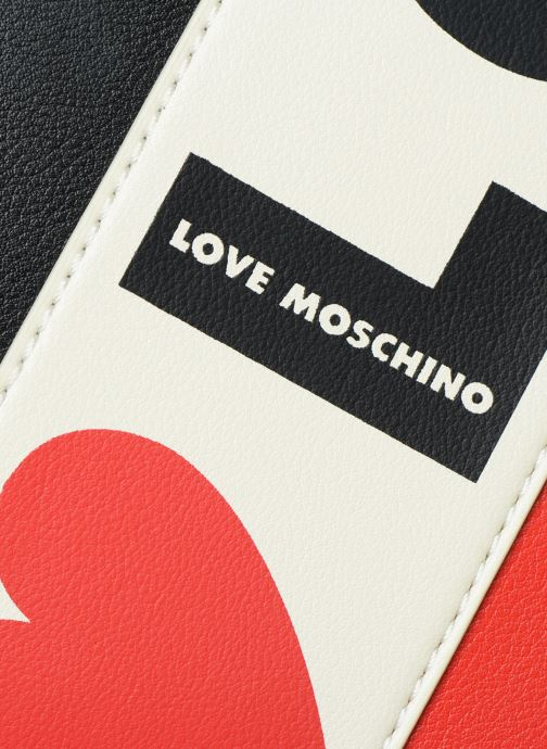Handbags Love Moschino SHARE THE LOVE TOTE Red view from the left