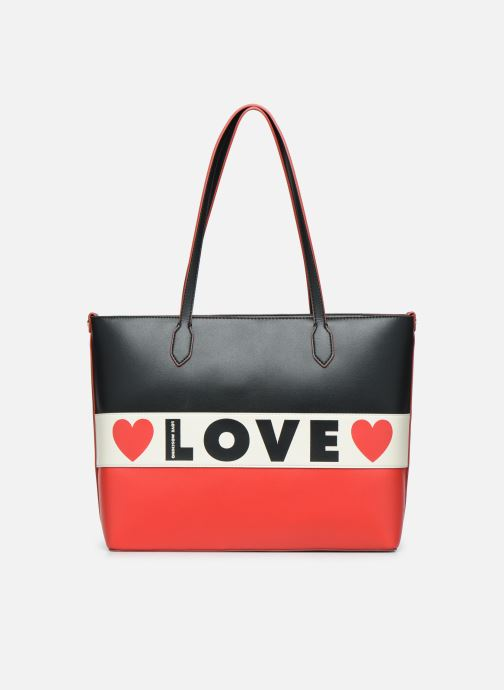 Handbags Love Moschino SHARE THE LOVE TOTE Red detailed view/ Pair view