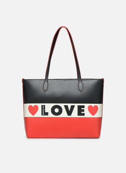 Sacs à main Love Moschino SHARE THE LOVE TOTE Rouge vue détail/paire