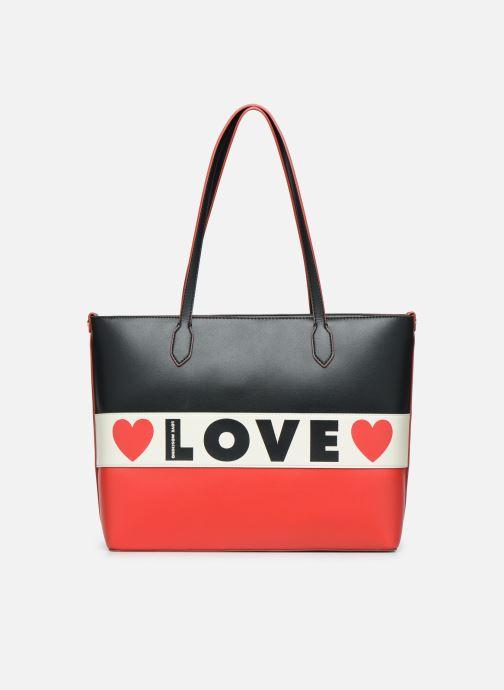 Bolsos de mano Love Moschino SHARE THE LOVE TOTE Rojo vista de detalle / par