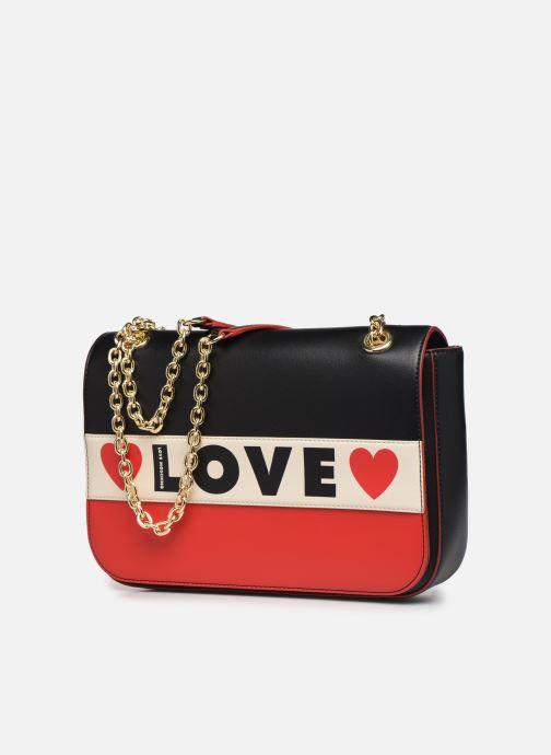 Handbags Love Moschino SHARE THE LOVE SATCHEL Red model view