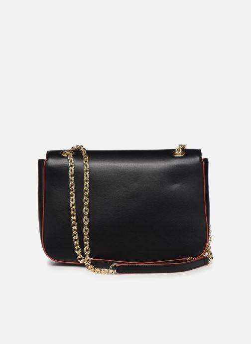 Handtaschen Love Moschino SHARE THE LOVE SATCHEL rot ansicht von vorne
