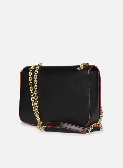 Handbags Love Moschino SHARE THE LOVE SATCHEL Red view from the right