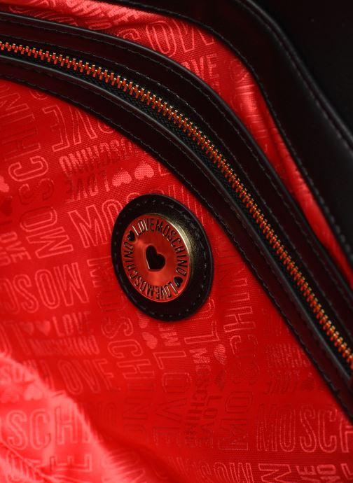 Handtaschen Love Moschino SHARE THE LOVE SATCHEL rot ansicht von hinten