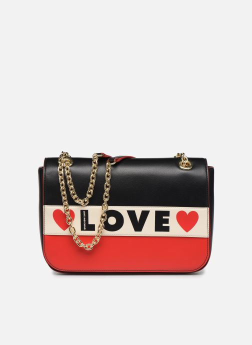 Handbags Love Moschino SHARE THE LOVE SATCHEL Red detailed view/ Pair view