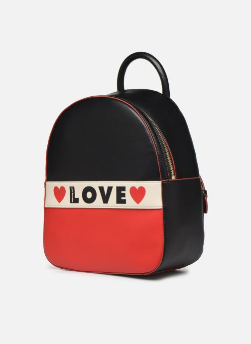 Sacs à dos Love Moschino SHARE THE LOVE BACKPACK Bleu vue portées chaussures