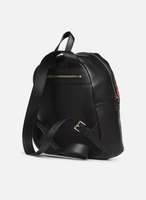 Sacs à dos Love Moschino LOVE IS ALLOVER BACKPACK Rouge vue droite