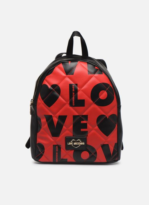 Sacs à dos Love Moschino LOVE IS ALLOVER BACKPACK Rouge vue détail/paire