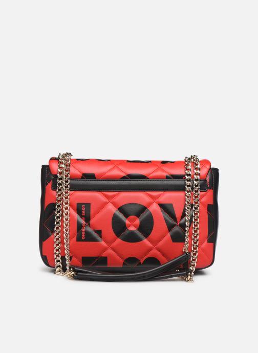 Bolsos de mano Love Moschino LOVE IS ALLOVER SATCHEL Rojo vista de frente