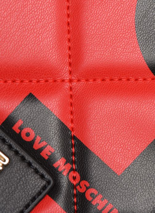 Sacs à main Love Moschino LOVE IS ALLOVER SATCHEL Rouge vue gauche