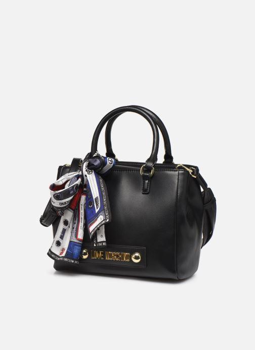 Handtaschen Love Moschino LETTERING LOVE MOSCHINO SACTHEL schwarz schuhe getragen