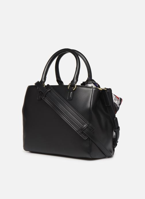 Handtaschen Love Moschino LETTERING LOVE MOSCHINO SACTHEL schwarz ansicht von rechts