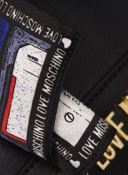 Handtaschen Love Moschino LETTERING LOVE MOSCHINO SACTHEL schwarz ansicht von links