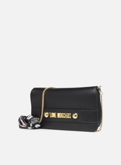 Sacs à main Love Moschino LETTERING LOVE MOSCHINO CLUTCH Noir vue portées chaussures