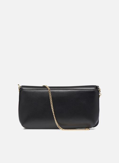 Handtaschen Love Moschino LETTERING LOVE MOSCHINO CLUTCH schwarz ansicht von vorne