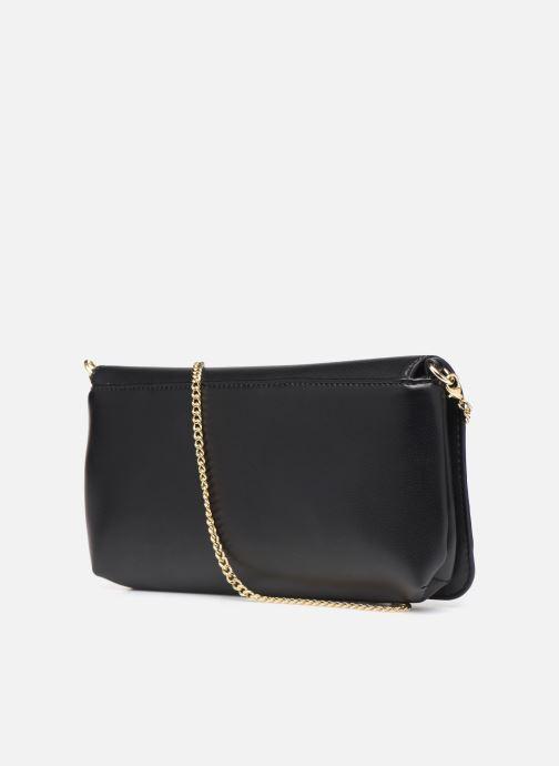 Handtaschen Love Moschino LETTERING LOVE MOSCHINO CLUTCH schwarz ansicht von rechts