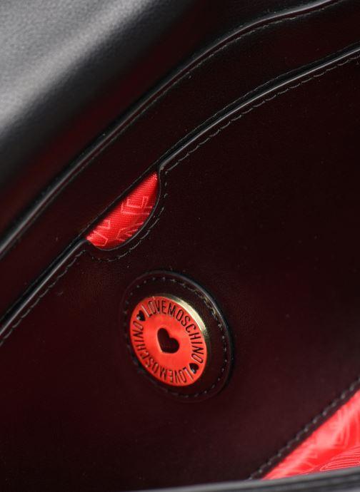 Handtaschen Love Moschino LETTERING LOVE MOSCHINO CLUTCH schwarz ansicht von hinten