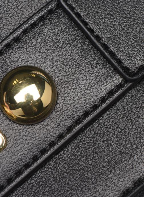 Handtaschen Love Moschino LETTERING LOVE MOSCHINO CLUTCH schwarz ansicht von links