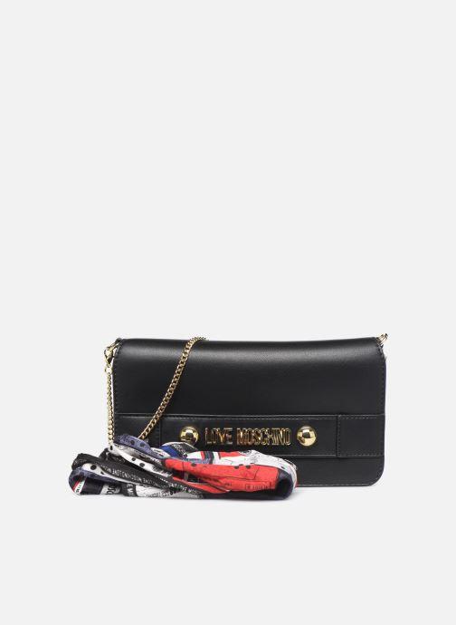 Handtaschen Love Moschino LETTERING LOVE MOSCHINO CLUTCH schwarz detaillierte ansicht/modell