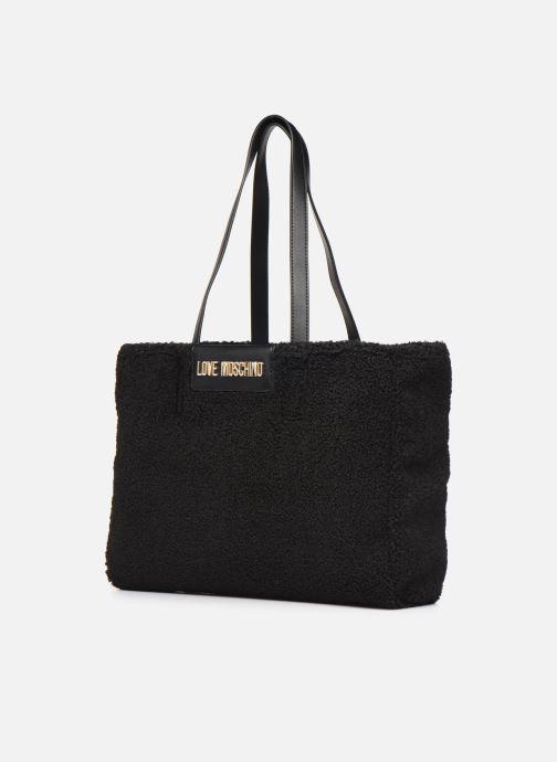 Handtaschen Love Moschino STAY WARM TOTE REVERSIBLE schwarz schuhe getragen