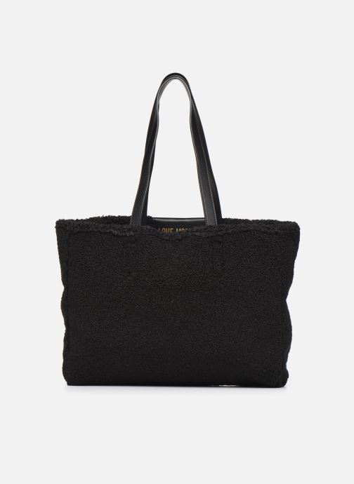 Sacs à main Love Moschino STAY WARM TOTE REVERSIBLE Noir vue face