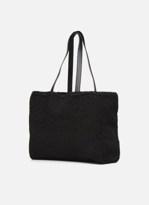Handtaschen Love Moschino STAY WARM TOTE REVERSIBLE schwarz ansicht von rechts
