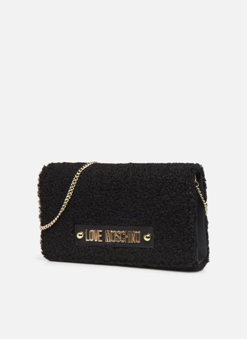 Sacs à main Love Moschino STAY WARM EVENING BAG Noir vue portées chaussures